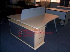2人连体组合办公桌