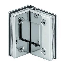 90 degree dual moving shower hinge