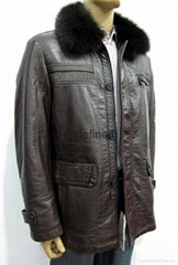 Men's PU jacket