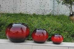 Home & garden beautiful glazed flower pot