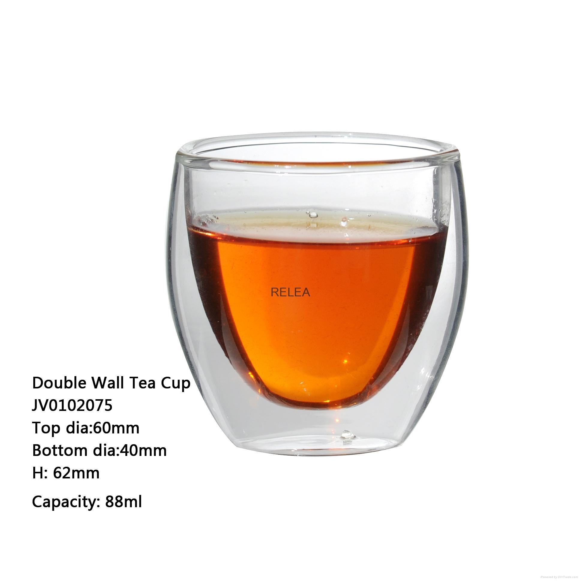 Borosilicate Double Wall Glass Cup  2