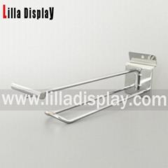 display shelf metal hanging hook with transparent plastic price tag