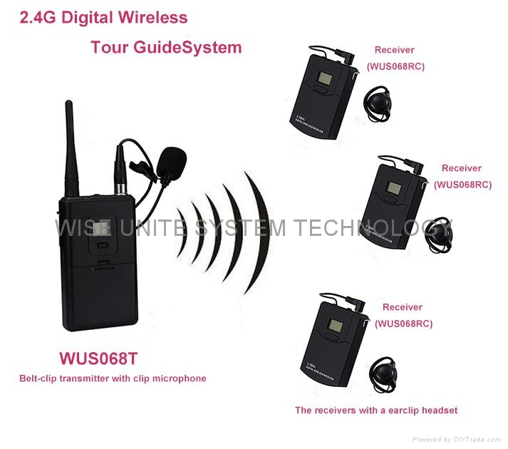 Lightweight and Portable 2.4G digital tour guide system with rechargable battery 2