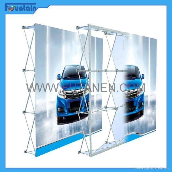 China advertising trade show backdrop fabric pop up display 1