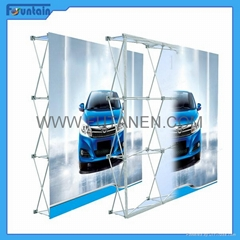 China advertising trade show backdrop fabric pop up display