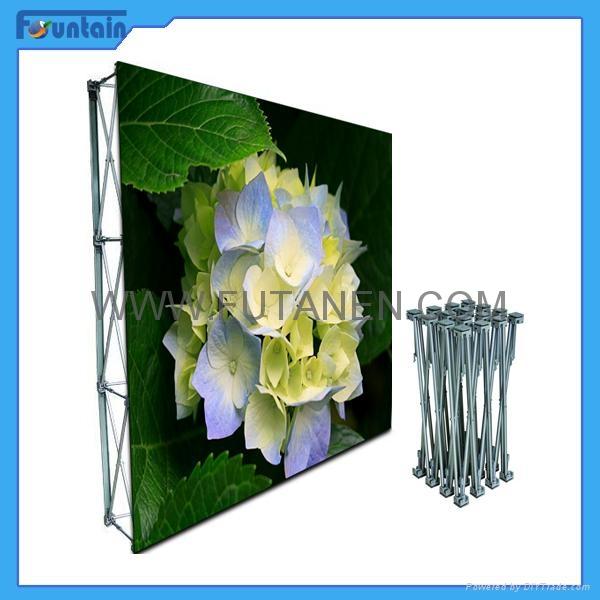 China advertising trade show backdrop fabric pop up display 4