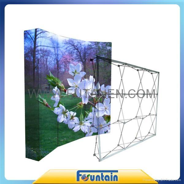 China advertising trade show backdrop fabric pop up display 5