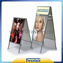 A frame display stand roll up banner poster board in advertising exhibition