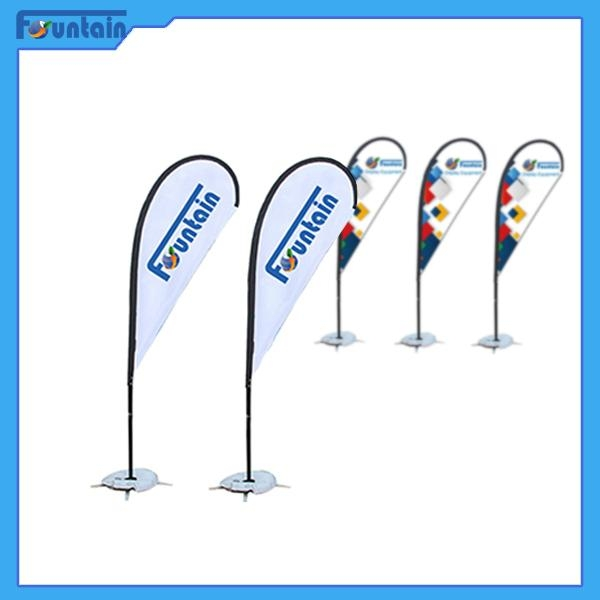 Flag Banner Poster Pole Stand Display/teardrop advertising banner stand 2