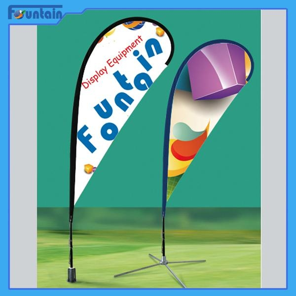 Flag Banner Poster Pole Stand Display/teardrop advertising banner stand 3