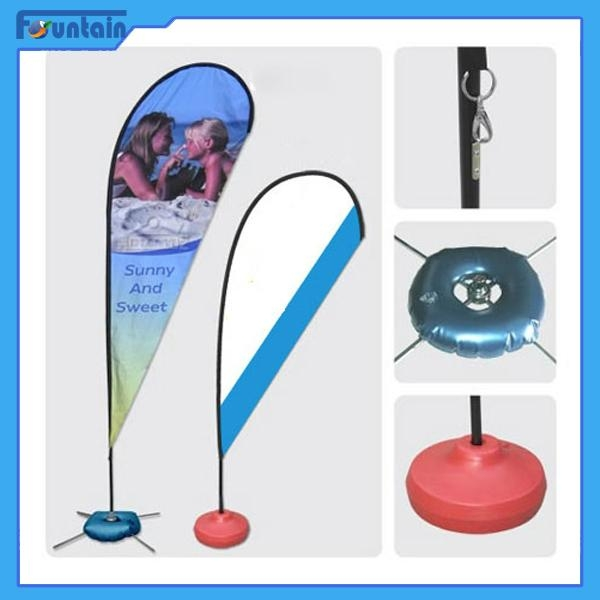 Flag Banner Poster Pole Stand Display/teardrop advertising banner stand 4