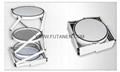 Free shipping  Aluminium folding spiral tower display showcase Systems 5