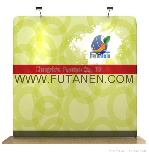 20ft Curve Tradeshow stretch fabric display Pop-Up Trade Show Booth Display Bann 1