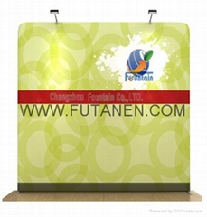 20ft Curve Tradeshow stretch fabric display Pop-Up Trade Show Booth Display Bann