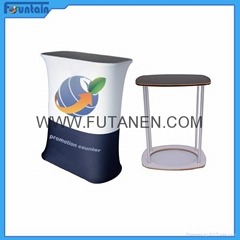 Hot sales Tension fabric display promotion table for advertising