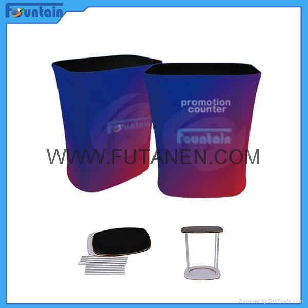 Hot sales Tension fabric display promotion table for advertising 2