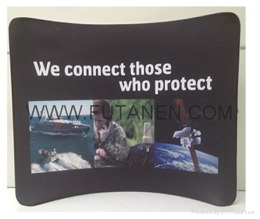Wave Line Tension Fabric Display For Trade Show and Advertising 1