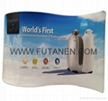 Wave Line Tension Fabric Display For Trade Show and Advertising 3