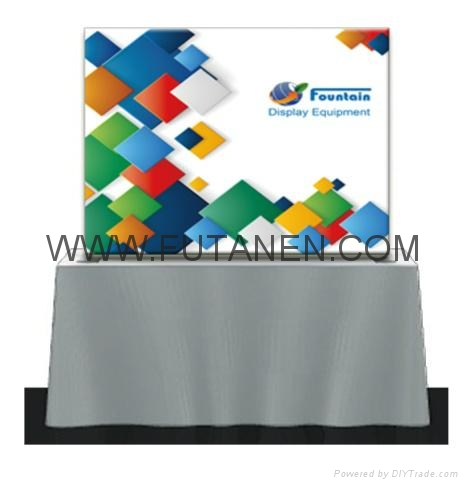 Wave Line Tension Fabric Display For Trade Show and Advertising 4