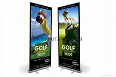Popular Single Side Retractable Rolling Up Display Banner Stands for advertising