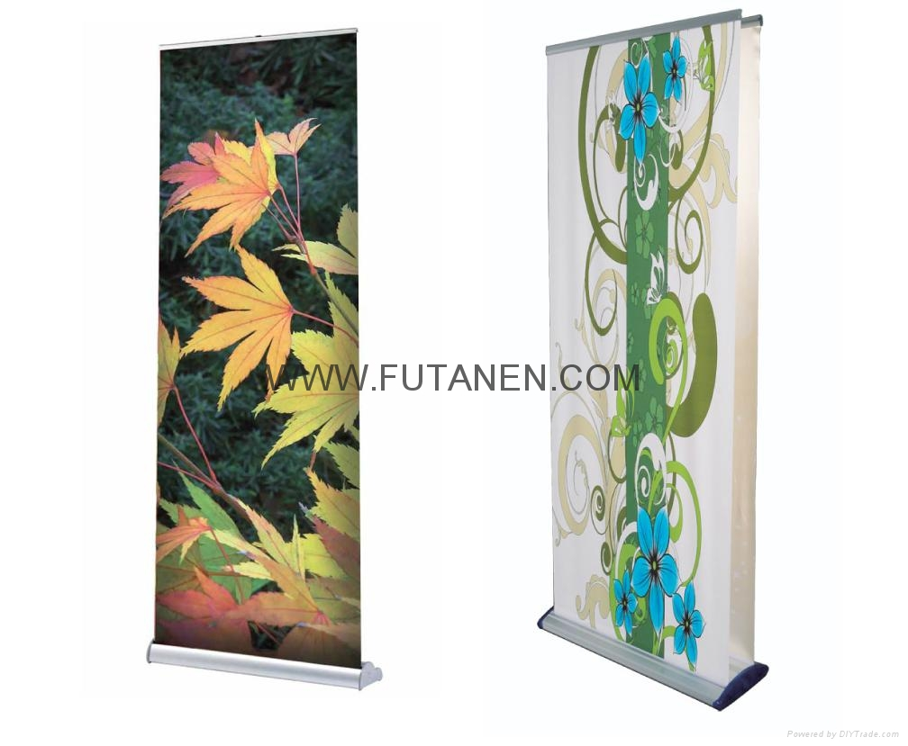 Single Side Luxury Promotional Aluminum  Teardrop Roll Up Banner Stand with Bann 1