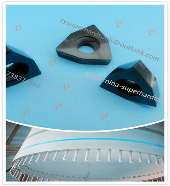 DFT DFS PCD inserts for drilling wind turbine blade 1