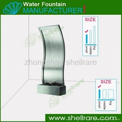Stainless Steel S-Style Indoor Waterfall Garden Water Fountains