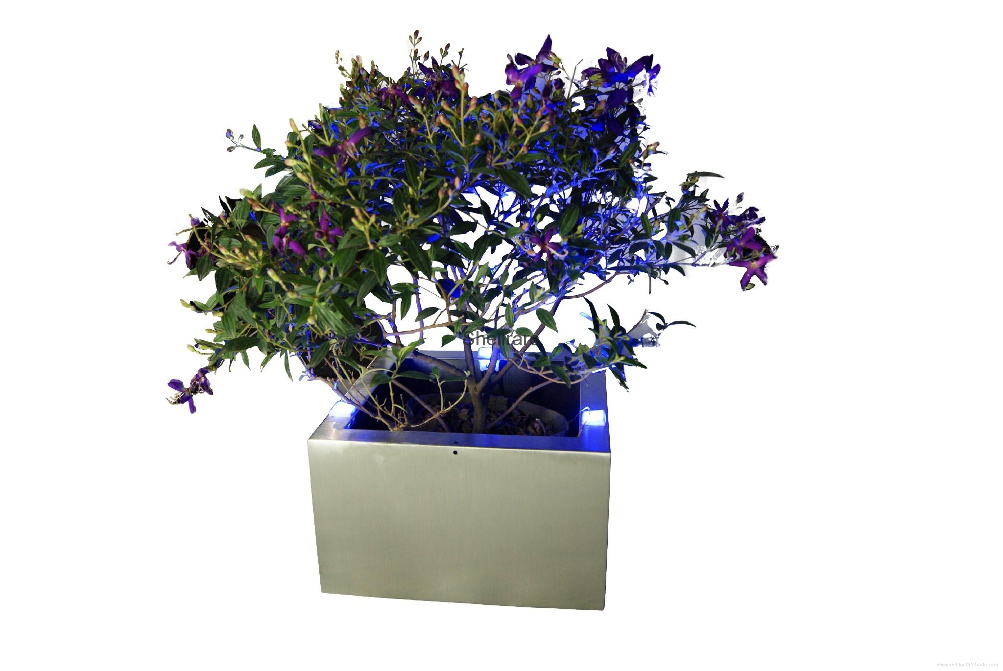 New style stainless steel hanging flower pot with led light 3