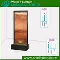 Painted metal Bronze Glass panel water