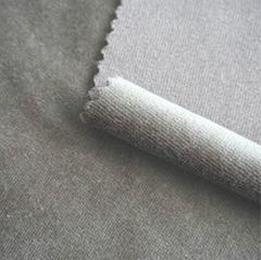 Knitted Solid Color Plain Velvet Fabric for Garment