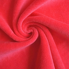 Plain 80% Cotton 20% Polyester Ve  et Fabric for Garment and Home Textile