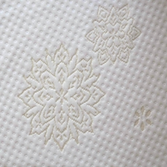 White 100% Polyester Jacquard Fabric for Mattress