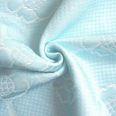 Aqua Blue 100% Polyester Fabric for Memory Foam Mattress