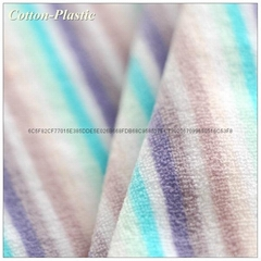 Thin Stripe Short Pile Ve  et Fabric for Garment