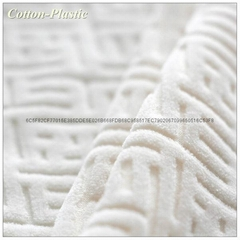 Maze Pattern White Velvet Fabric for Garment