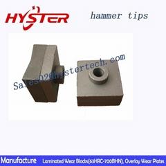 63HRC white iron shredder hammer tips for sugar mill OEM china professional manu