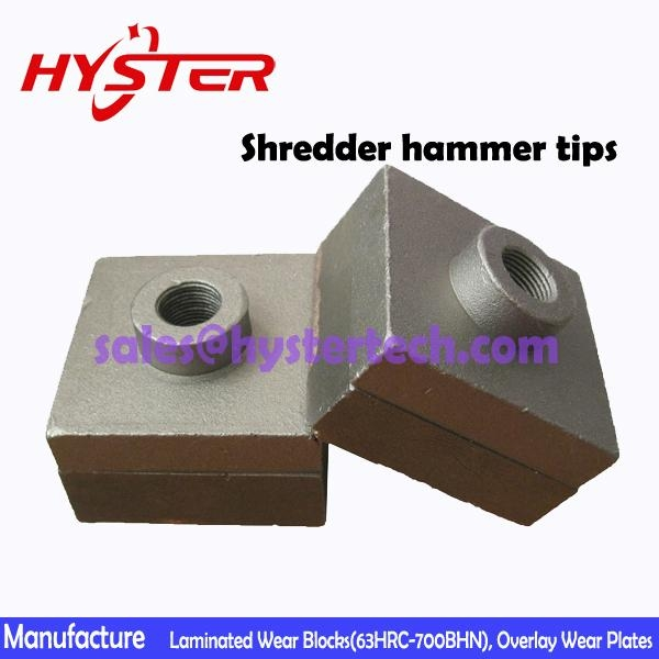 63HRC white iron shredder hammer tips for sugar mill OEM china professional manu 3