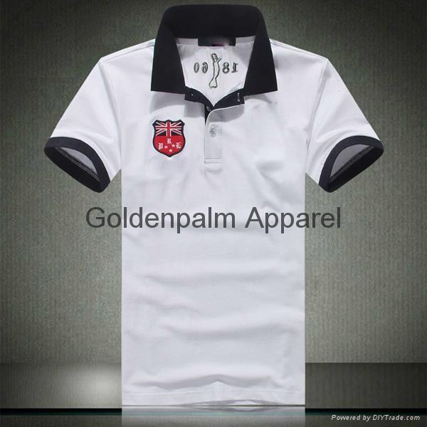 Oem high quality custom logo embroidery unisex polo shirt