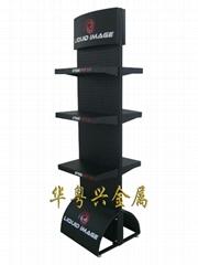 Single Side paper Metal Shelf Display