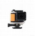 WIFI compact size 50 meters waterproof video camera same solution as Hero 3 1