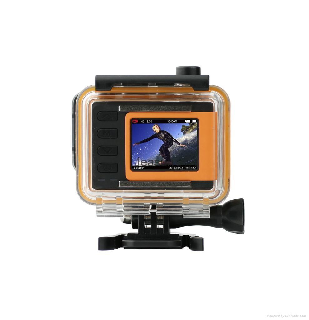 WIFI compact size 50 meters waterproof video camera same solution as Hero 3 5