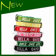 Personalized Velvet Cat Collar Hand Embroidered with your dog's name