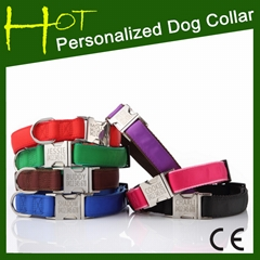 2014 New Metal Engraved Personalized Ribbon Dog Collar