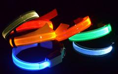 Hot sale black-light-up  dog collars