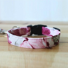 2014 Novelty Colorful Canvas Dog Collar&Lead(100 Colors)
