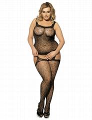 Hot women nude black bodystocking