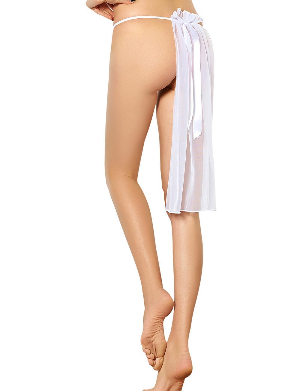 White lace sexy mature women underwear 3