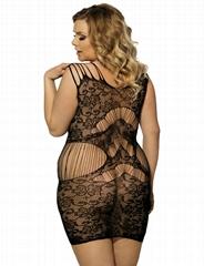 Plus size sexy fishnet bodystocking