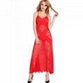 2016 Red wedding lace simple long dress