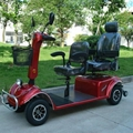 Mobility scooter with two seat